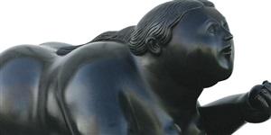 donna con mela (detail) by fernando botero