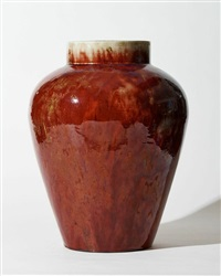 massive oxblood vase by ernest chaplet