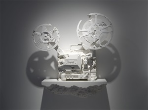 crystal eroded 16mm film projector by daniel arsham