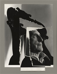 marcel duchamp (collage) by arnold newman
