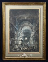 la grotta di posillipo by louis-jean desprez and francesco piranesi