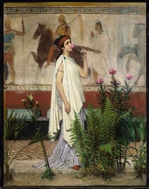 a greek woman by sir lawrence alma-tadema