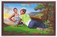 gossiping women (the world stage: haiti) by kehinde wiley