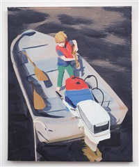 untitled (boy on boat) by sebastian blanck