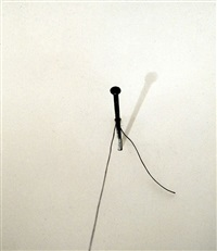 untitled (nail with string) by liliana porter
