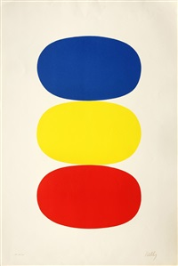 blue and yellow and red-orange (vii.14) by ellsworth kelly