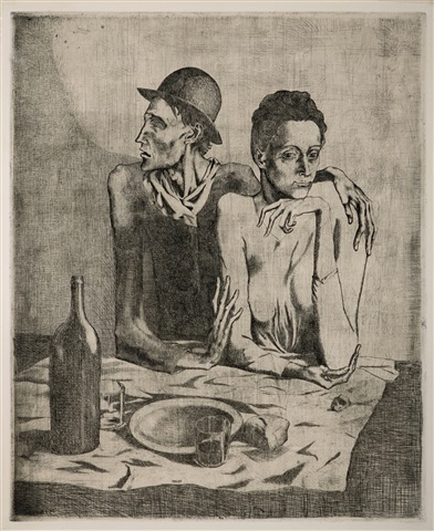 le repas frugal (the frugal repast) by pablo picasso