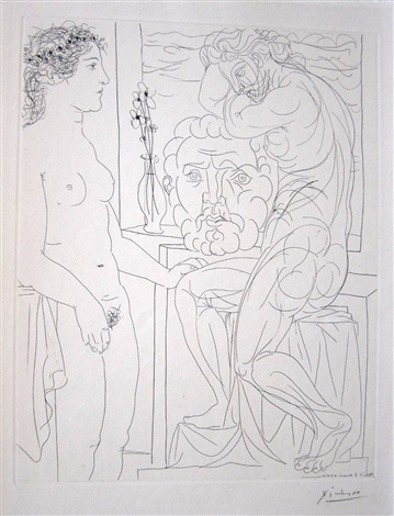suite vollard - modele nu et sculptures by pablo picasso