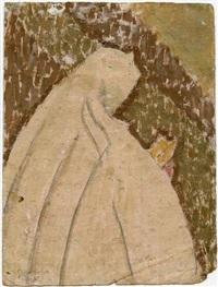 rear view, standing nun by gwen john