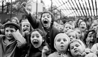 children at a puppet theater by alfred eisenstaedt