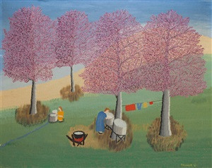wash day at the spring by theora hamblett