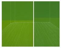 grass skirt interior, all spring green by kate shepherd