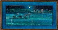 prairie transport in the dirty 30's - the bennett buggy by william kurelek