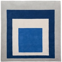 homage to the square rug by josef albers