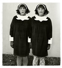 diane arbus / identical twins, roselle, new jersey (1967) by sandro miller