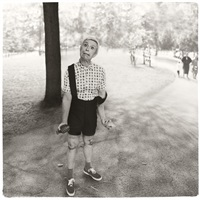 diane arbus / child with a toy hand grenade in central park, n.y.c. (1962) by sandro miller