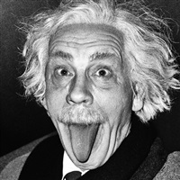 arthur sasse / albert einstein sticking out his tongue (1951) by sandro miller