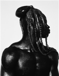 djimon with octobpus, hollywood by herb ritts