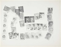 portrait of seven artists by andy warhol