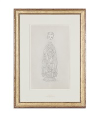 the meat dress porcelain drawing by mark ryden