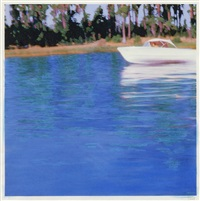 white speedboat by isca greenfield-sanders