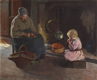 afternoon meal by clarence alphonse gagnon