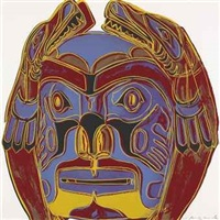 northwest coast mask by andy warhol