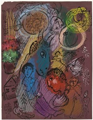 la fete du peintre by marc chagall
