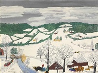 dark sky by grandma moses
