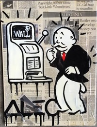 untitled (wall street monopoly) by alec monopoly