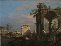 a capriccio with reminiscences of padua by canaletto