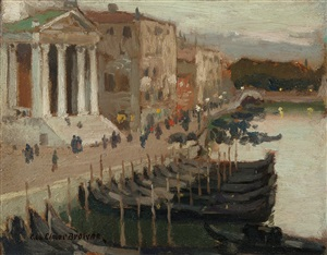 evening in venice by george elmer browne