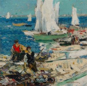 boaters by george elmer browne
