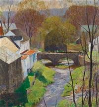 carversville—springtime by daniel garber