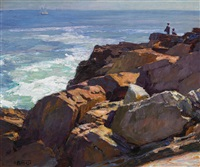 rockbound coast, ogunquit by edward henry potthast