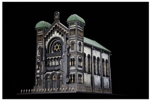 synagogue v (after the great synagogue of brussels) by al farrow