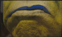 man with blue shape by john baldessari