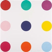 tryptophan, from woodcut spots by damien hirst