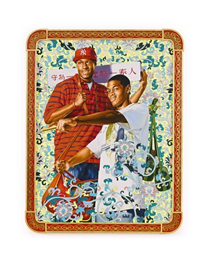 defend and develop the island together by kehinde wiley