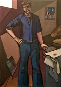 self portrait by leland bell