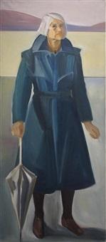 self portrait with dark coat ii by louisa matthiasdottir