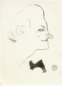 yvette guilbert (from le café concert) by henri de toulouse-lautrec