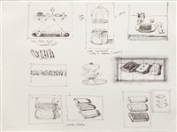 untitled (sketchbook page) by wayne thiebaud