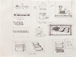 untitled (sketchbook page) by wayne thiebaud