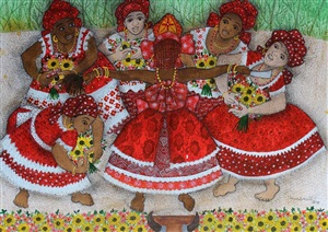 festejando iansá (feast of candomblé) by vanice ayres