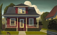 painting about a dog by kenton nelson