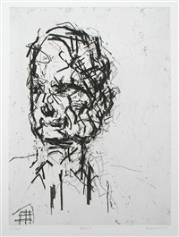 david landau by frank auerbach
