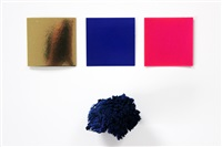 le monochrome and eponge bleu by yves klein