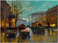 parisian street scene by edouard léon cortès