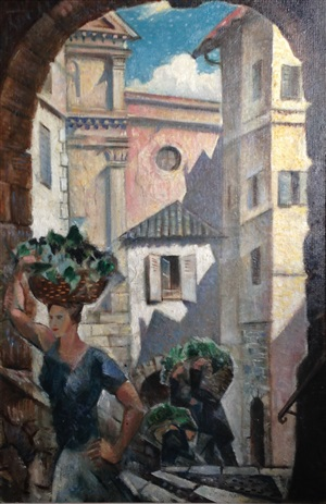 roquebrun, south of france by christopher richard wynne nevinson
